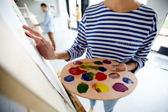 Painting with gouache - Stock Photo - Images
