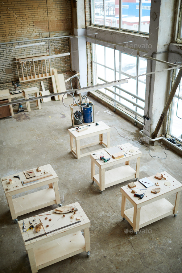 Nobody in spacious carpentry - Stock Photo - Images