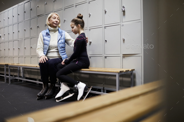 Mother Comforting Girl after Failure - Stock Photo - Images