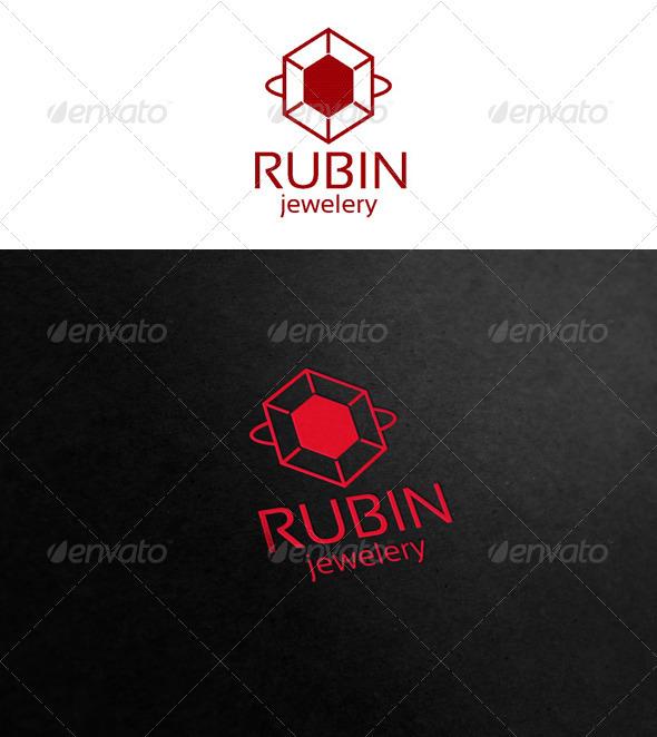 Rubin - jewelry logo - Symbols Logo Templates