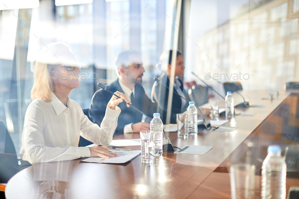 Speakers at business conference - Stock Photo - Images