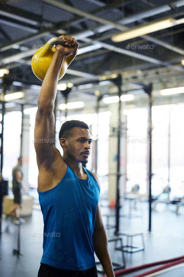Exercise with kettlebell - Stock Photo - Images