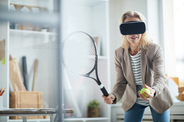 VR Tennis - Stock Photo - Images