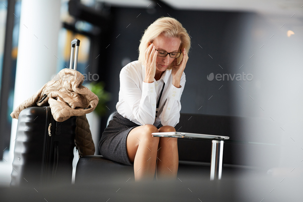 Suffering from headache - Stock Photo - Images