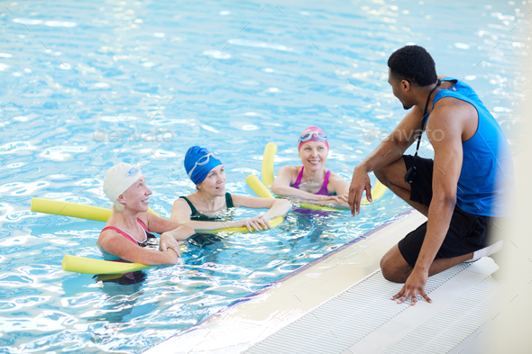Aqua Aerobics Workout - Stock Photo - Images