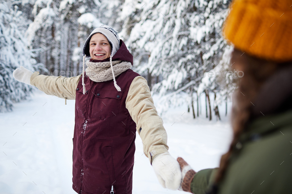 Carefree Couple Outdoors - Stock Photo - Images