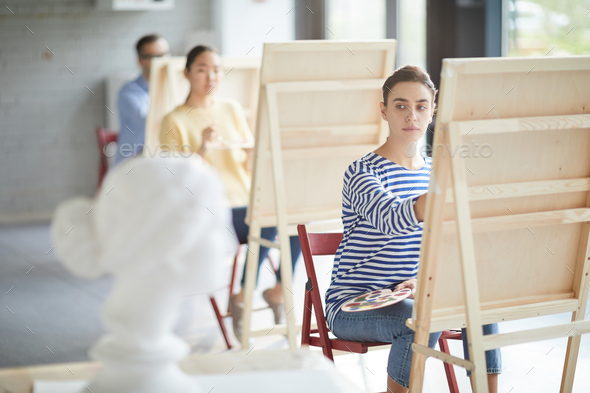 Painting human head - Stock Photo - Images