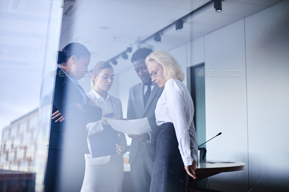 Gathered for discussion - Stock Photo - Images