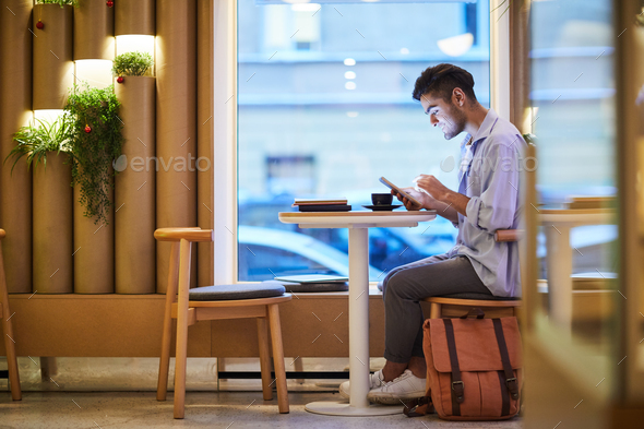 Guy with touchpad - Stock Photo - Images