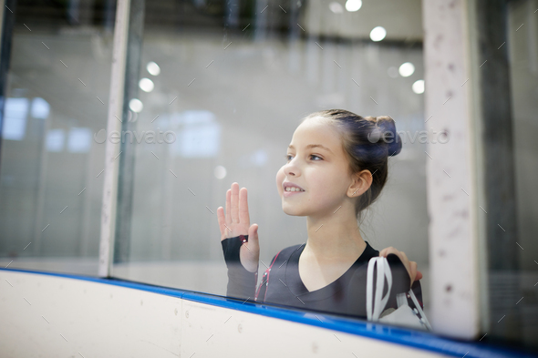 Little Girl watching Practice - Stock Photo - Images