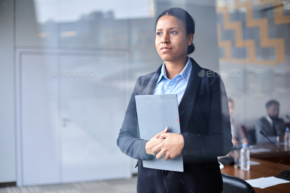 Woman in conference hall - Stock Photo - Images