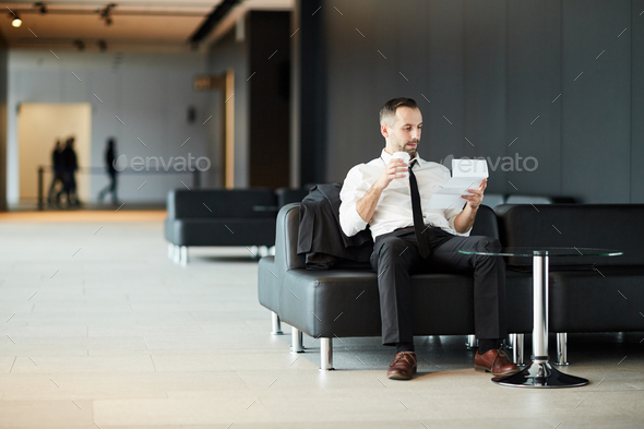 Resting in lounge - Stock Photo - Images