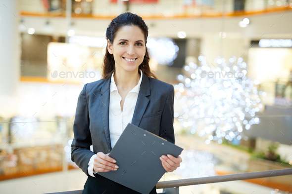 Successful female broker - Stock Photo - Images