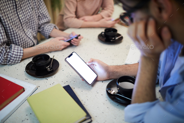 Students messaging - Stock Photo - Images