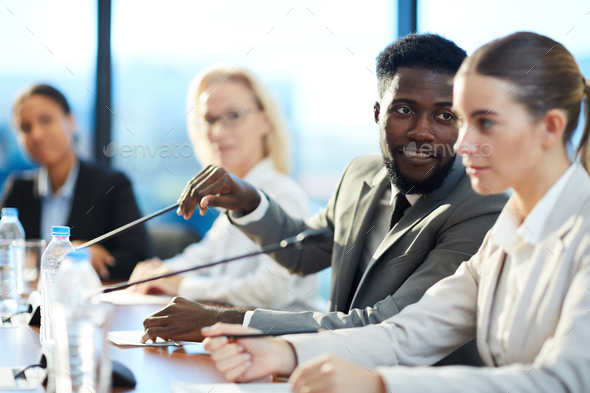 African-american speaker - Stock Photo - Images