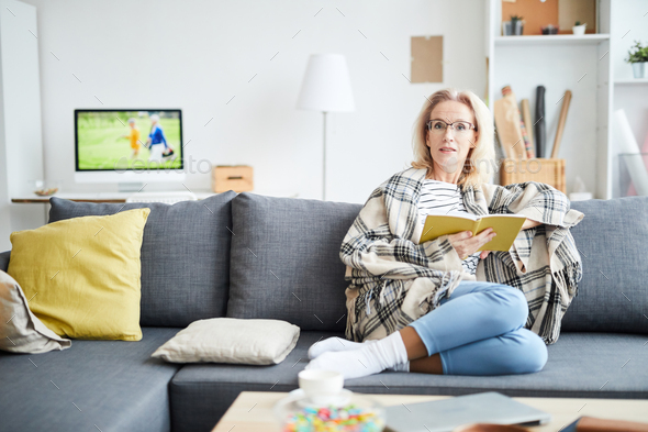 Mature Woman at Home - Stock Photo - Images