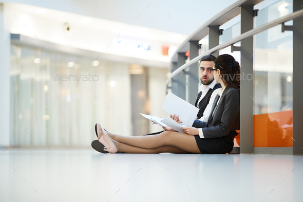 Meeting on the floor - Stock Photo - Images