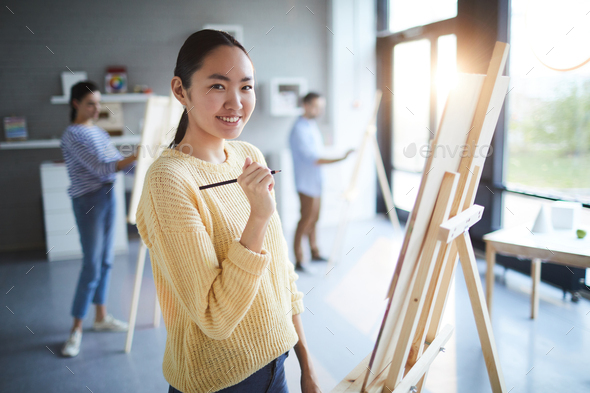 Girl with pencil - Stock Photo - Images