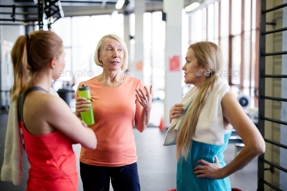 Talking after workout - Stock Photo - Images
