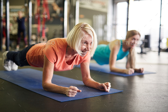 Woman in plank - Stock Photo - Images