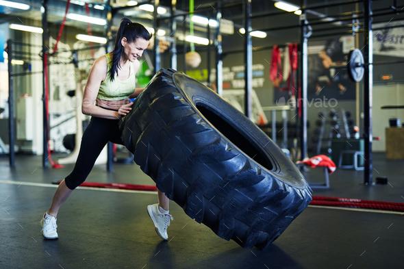 Girl training - Stock Photo - Images