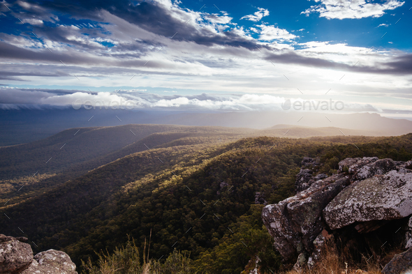 Reeds Lookout Grampians - Stock Photo - Images