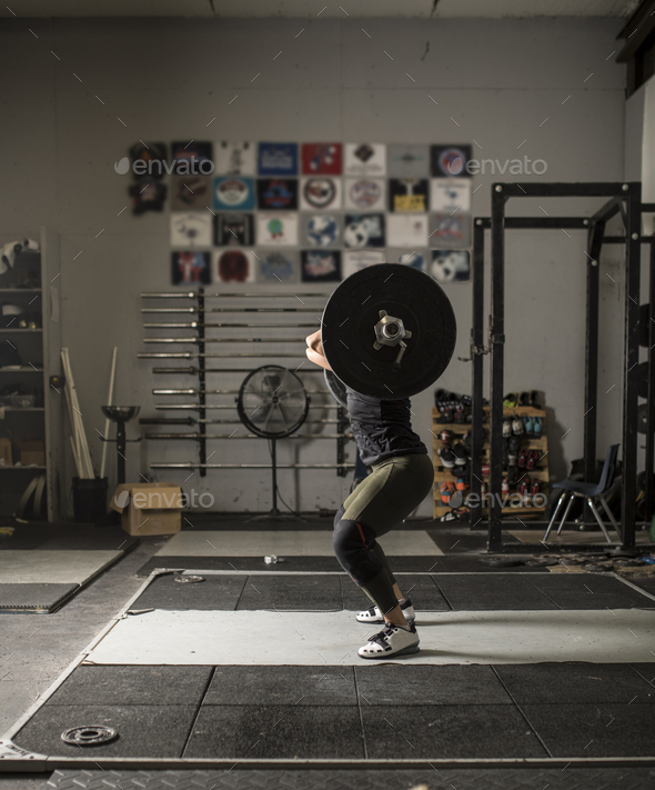 Female power lifter - Stock Photo - Images