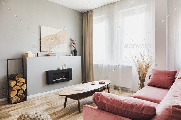 Stylish living room interior - Stock Photo - Images