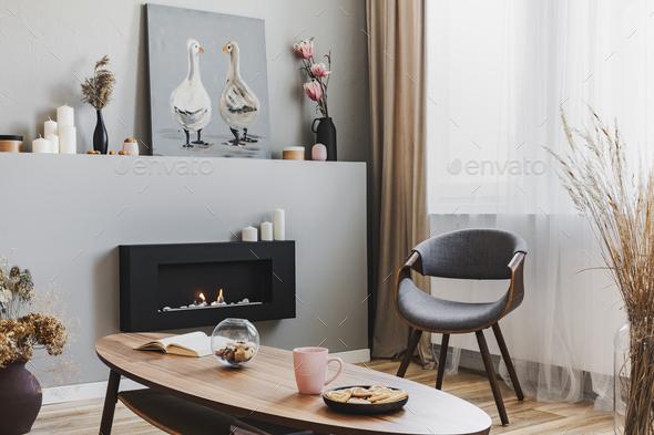 elegant living room - Stock Photo - Images