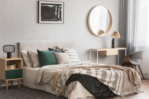 Elegant round mirror - Stock Photo - Images