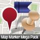 MAP MARKER MEGA PACK - 66 ICONS - GraphicRiver Item for Sale