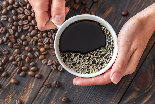 A cup of coffee - Stock Photo - Images