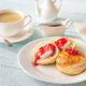 Classic scones with cream and berry jam - PhotoDune Item for Sale