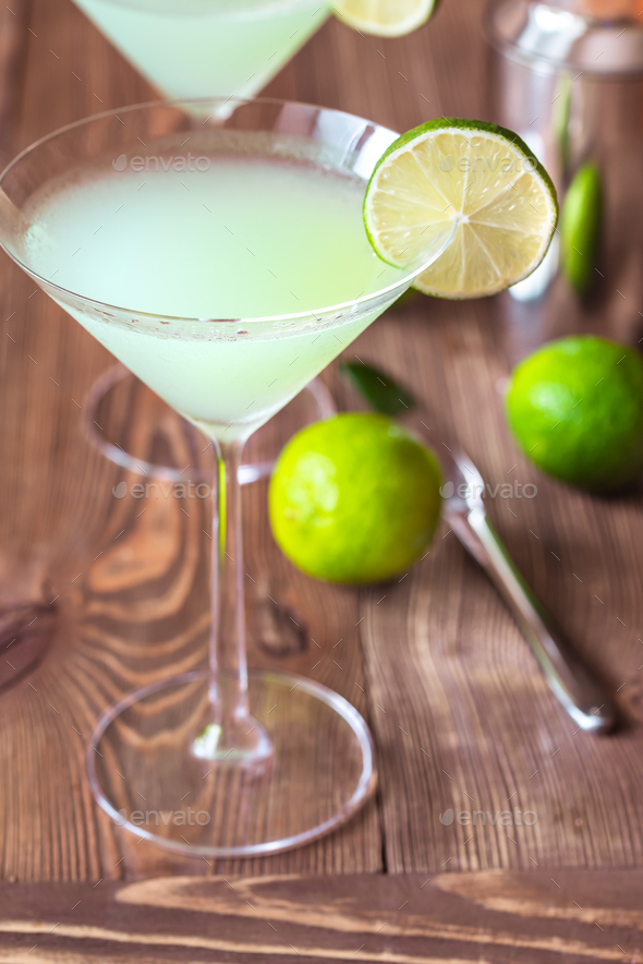 Glass of classic daiquiri cocktail - Stock Photo - Images