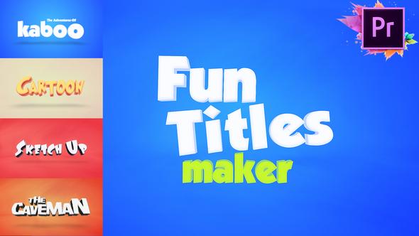 Fun Titles Maker For Premiere Pro MOGRT