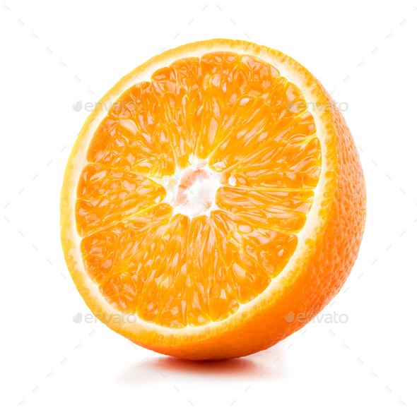 Half of ripe orange - Stock Photo - Images