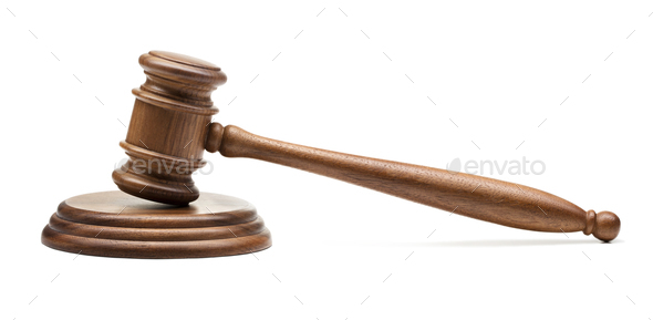 Wooden judge - Stock Photo - Images