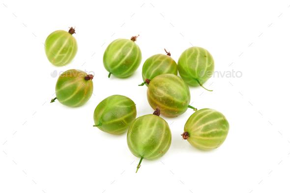 Gooseberry on white - Stock Photo - Images