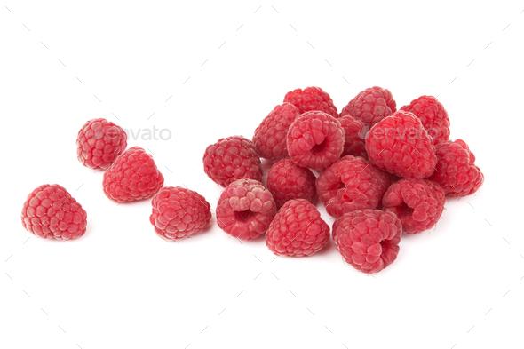 Raspberry on white - Stock Photo - Images