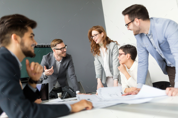 Business people conference in modern meeting room - Stock Photo - Images