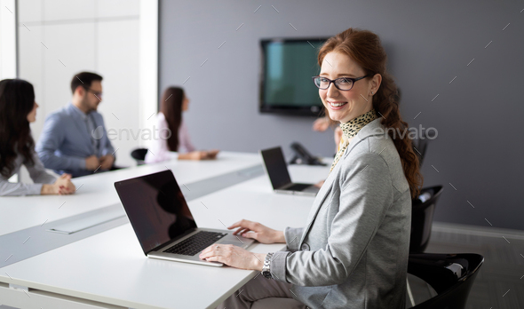 Entrepreneurs and business people conference in modern office - Stock Photo - Images