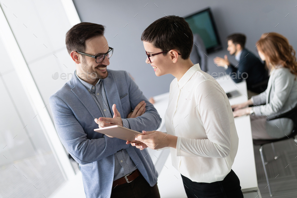 Business people having fun in office - Stock Photo - Images
