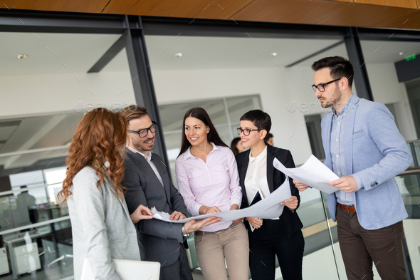 Group of architects and business people working together - Stock Photo - Images