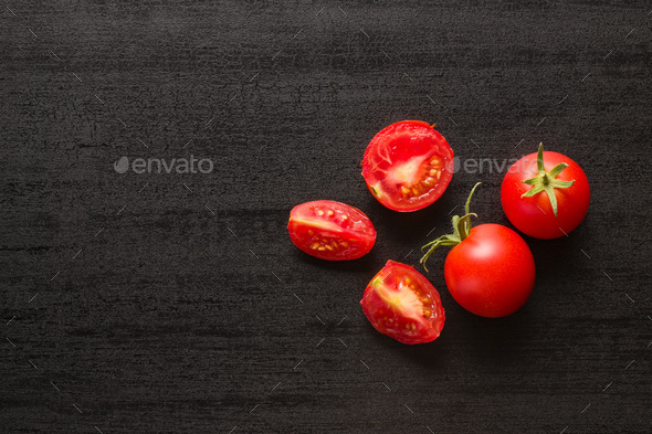 Sliced red tomatoes. - Stock Photo - Images