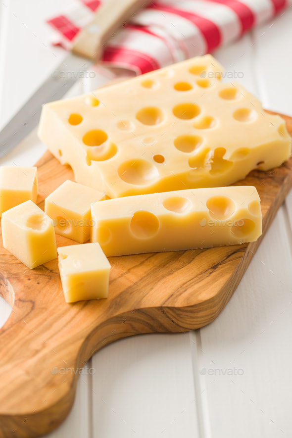 Block of tasty cheese. - Stock Photo - Images