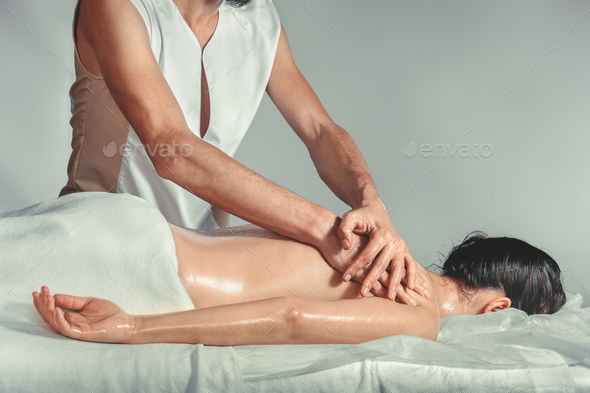 Massage oil therapy - Stock Photo - Images