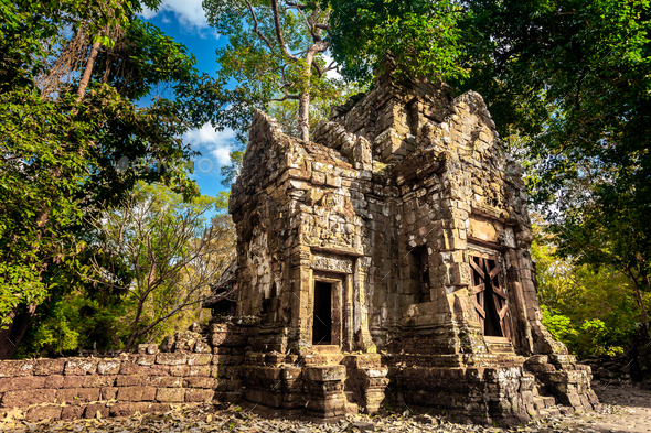 Angkor Wat Temple - Cambodia. Ancient architecture - Stock Photo - Images
