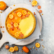 Cheesecake with slices of orange and kumquat. - PhotoDune Item for Sale