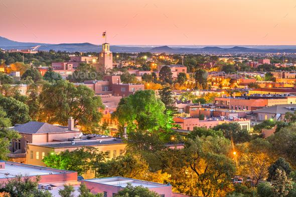 Santa Fe, New Mexico, USA - Stock Photo - Images