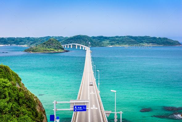 Tsunoshima Ohashi Bridge - Stock Photo - Images